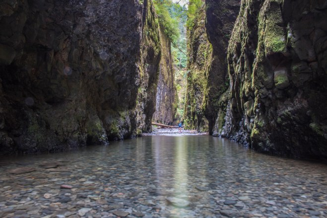 water depth august Oneonta gorge