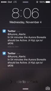 Aurora alerts