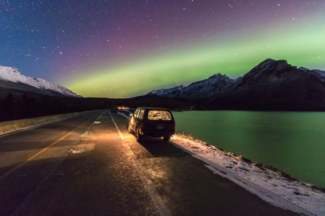 Northern lights Banff