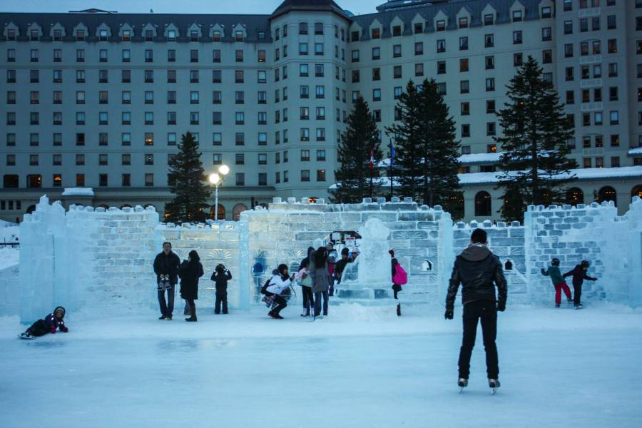 Ice Skating Lake Louise