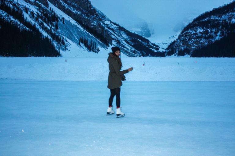 Ice skating Lake Louise