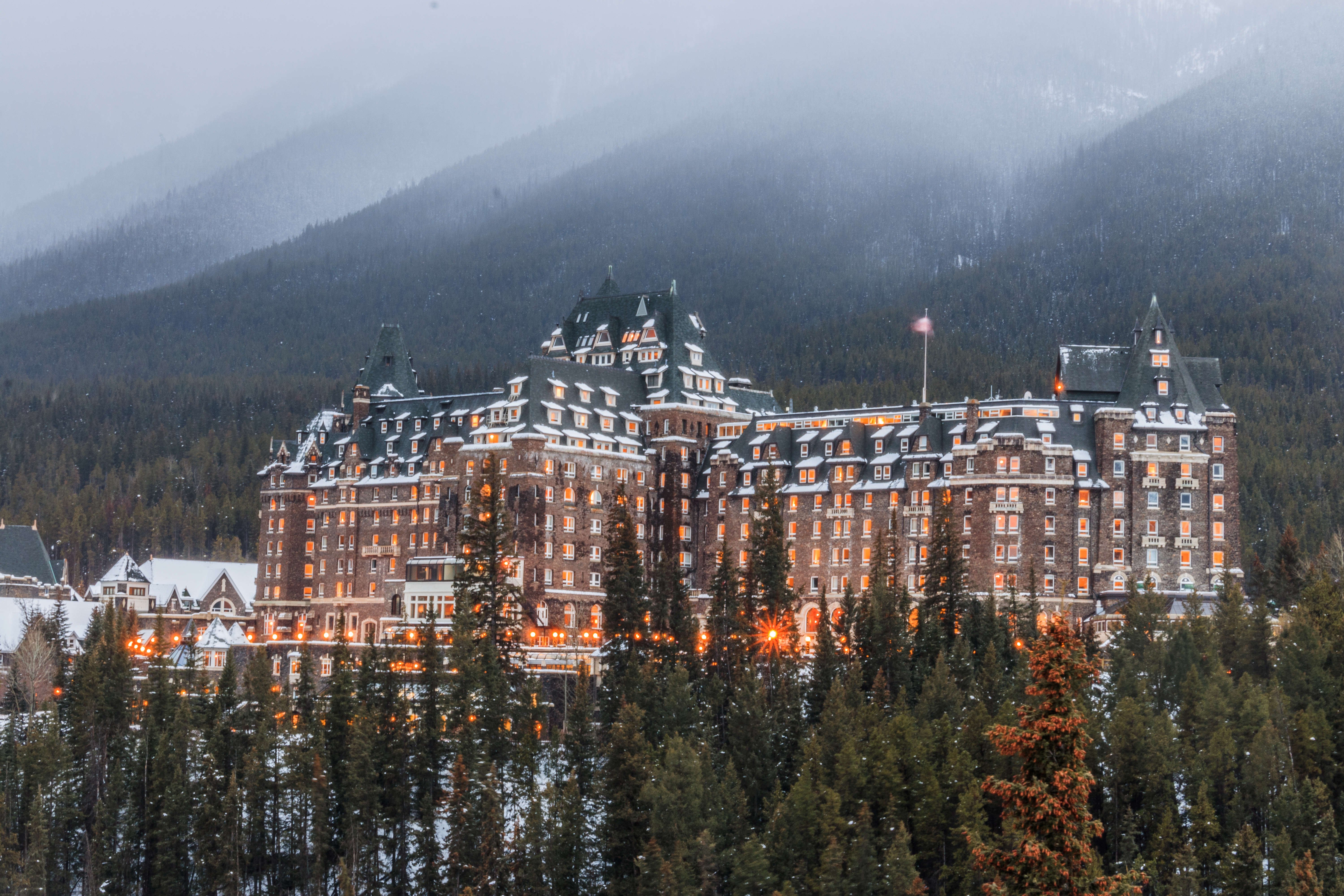 Fairmont Banff Springs Winter