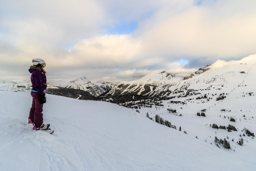 snowboarding at Sunshine Village