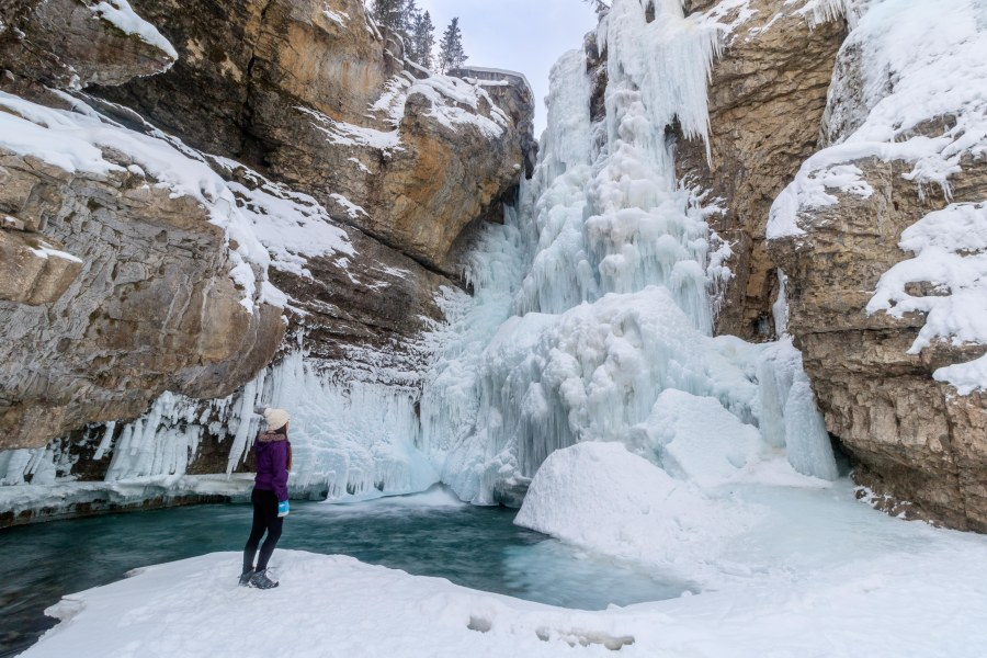 Johnston Canyon Winter hike