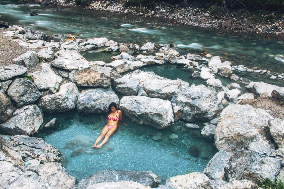 Banff winter natural hot springs