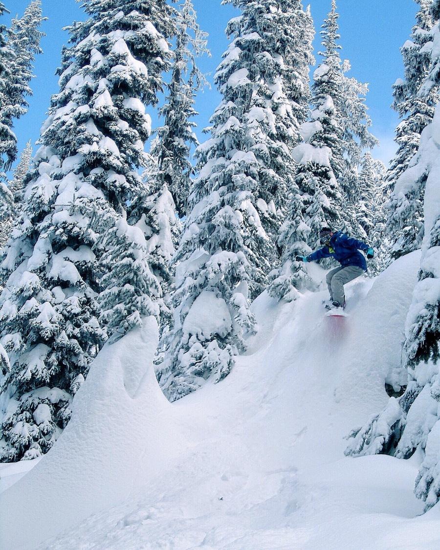 Banff winter snowboarding