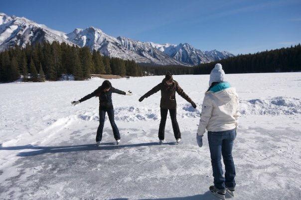 Banff winter skating