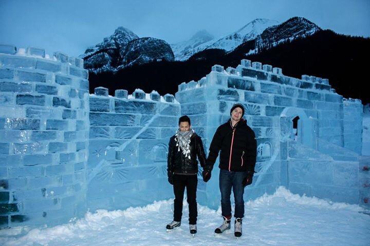 Banff winter Lake Louise ice castle