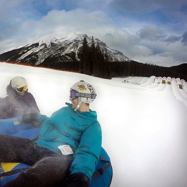 Banff winter tubing