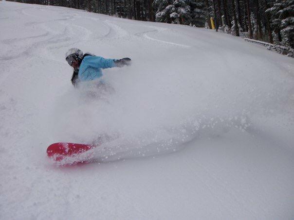 Banff winter powder snow