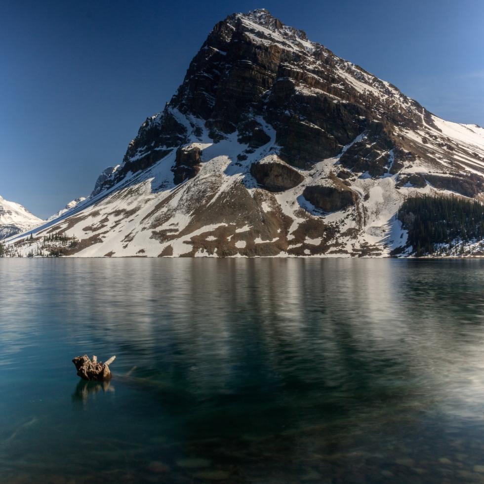 Bow lake hiking